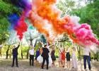 Цветной дым для свадьбы в Уфе